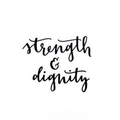 Typography Bible calligraphy handlettering Proverbs 31:25 brushlettering