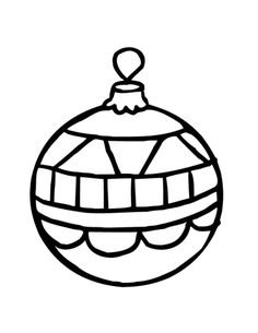 Printable Coloring Pages Christmas Pretty Ornament