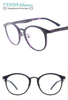 204a11b4489 Women round vintage medium myopia spectacles men classic retro eyeglasses  frame for reading multifocal lenses