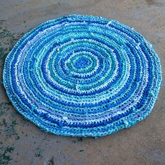 This is a picture of a handmade crocheted rag rug. They are very easy to make, and there are plenty of online tutorials you can watch.