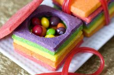 Colorful Sugar Cookies / This baking project looks complicated but you'll spend more time assembling then actually baking. @Erica Sweet Tooth