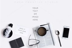 Product Mockup Black & White flatlay by Her Creative Studio on @creativemarket https://crmrkt.com/GPQW9
