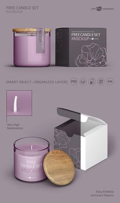 Very beautiful Candle Set Mockup can help you, your client, company or product be exclusive and original. A lot of different examples are Free for use now Candle Logo, Candle Branding, Candle Packaging, Candle Set, Candle Jars, Homemade Scented Candles, Candle Making Business, Candle Store, Candle Companies