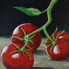 Social Artworking Canvas Painting Design - Tomatoes Still Life