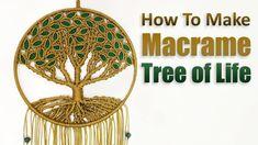 Macrame Tree of Life DIY Tutorial. Looking for idea of handmade modern wall hanging decoration, we have this steps by steps macrame tutorial. Tree of Life , . Macrame Wall Hanging Patterns, Macrame Art, Macrame Design, Macrame Projects, Macrame Patterns, Tree Of Life Painting, Tutorial Diy, Micro Macramé, Mandala