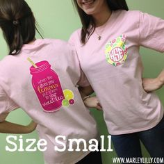 Monogrammed Pale Pink Short Sleeve Bow T-Shirt | Clothing | Marley Lilly