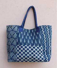 9101ac4314 Cotton Kantha Shoulder Bag Indigo Patchwork Handmade Women s Kantha Hobo Bag  Kantha Shopping Bag Hand Bag Hippie Zipper Tote Bag. ali · bags