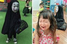 This Little Girl Went As No-Face