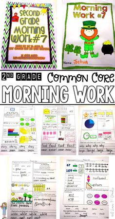 This morning work, designed for the 7th month of second grade, meets many Common Core Standards. For Math, it addresses 2. O.A.1, 2. O.A.2, 2. O.A.3, 2. N.B.T.1., , 2. N.B.T.2, 2.N.B.T.8, 2.M.D. 5, 2.M.D.6, 2.M.D.8, 2.M.D.10, 2. G. 1, 2.G.2 and 2.G.3. For language arts, Common Core ELA Standards, this month's morning work addresses 2L.1.a., 2L.1.b., 2L.1.d., 2L.2.a., 2. R. F. S.3.a., 2. R.F.S.3.b., 2. R.F.S.3.e., 2. R.F.S.3.f., 2. R.F.S.4.a., 2.R.I.T.1., 2.R.I.T.2., 2.R.I.T.3., 2.R.I.T.5…