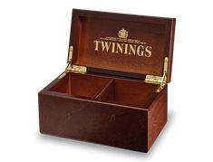 Deluxe Wooden Tea Box - 2 Compartment Empty (Image 1)