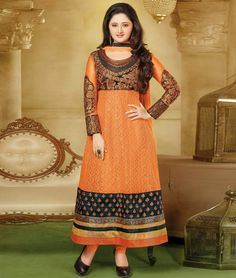 Shop Now from Latest collection of Glamour Beauty #RashmiDesai designer #AnarkaliSuits. Enjoy #Shopping:- http://www.shoppers99.com/all_sales/party_wear_anarkali_suits