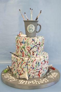 Sweet cake design: paint splatter cake