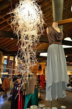 Anthropologie Display...i just took a picture of this chandeleir in new orleans!  It's made out of zip ties.