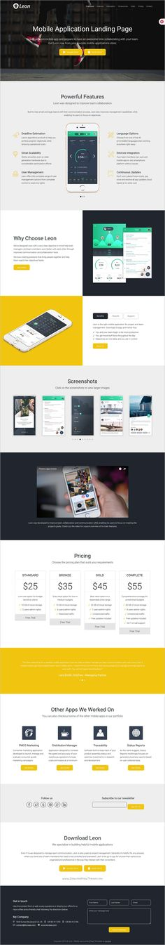 Image for Mobile App Bootstrap Template by Mobirise | Free BOOTSTRAP ...
