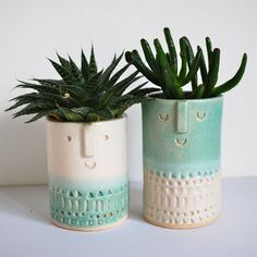 Image of Small succulent pot pair