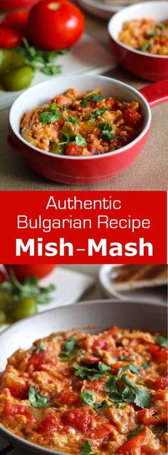 Mish-mash, a delicious omelet with bell peppers, tomatoes and sirene (Bulgarian feta) is the iconic dish of Bulgarian breakfasts. #Bulgaria #196flavors