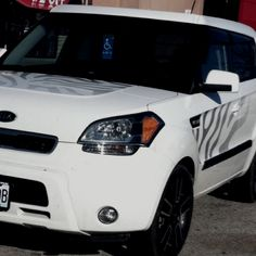 Zebra Print Kia Soul <3 ...I ordered these for my soul but you have no idea how hard they are to put on ):