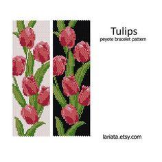 Tulips Peyote Bracelet Pattern INSTANT DOWNLOAD by lariata