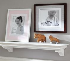 Gingham Gallery Frame Mat #pbkids - like this look for a shelve