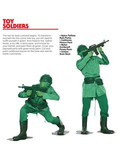 Toy Soldiers costume guide for HALLOWEEN '13! #AAHALLOWEEN