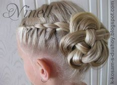 Trendy Wedding Hairstyles For Kids Flower Girls Bows Ballet Hairstyles, Flower Girl Hairstyles, Little Girl Hairstyles, Bride Hairstyles, Girls Updo, Girls Braids, Flower Girl Updo, Flower Girls, Fancy Braids