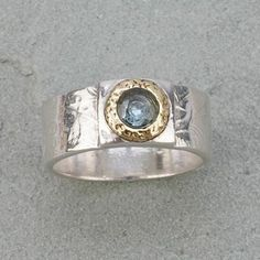 Contemporary metal clay ring