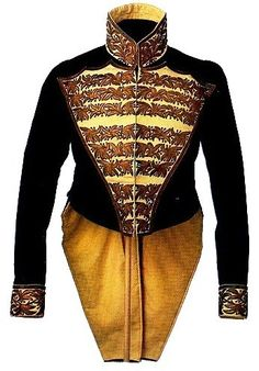 New York State Troops Colonel's Coat, Mexican War--early American uniforms were seen with fringe, plumes and elaborate embroidery like the Europeans; Volunteer forces had their own uniforms and regiments usually had their own distinct style.