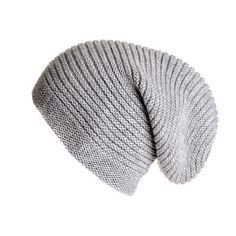 When temperatures drop keep warm and stylish in this luxurious chunky rib knit cashmere slouch beanie hat. Made from ultra soft Italian cashmere it has a 4 cm p