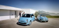 I love it! Cutest car ever. | 2014 FIAT 500 1957 Edition and 1957 FIAT Nuova 500