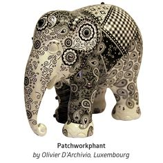 'Patchworkphant' by Olivier D'Archivio from Rédange sur Attert, Luxembourg.