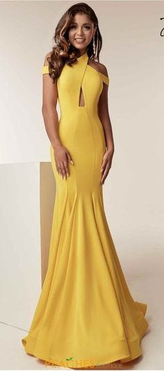 Jasz Couture 6238 is available for immediate purchase along with thousands of other dresses with express worldwide shipping. Backless Mermaid Prom Dresses, Backless Wedding, Look Formal, Sequin Party Dress, Vintage Mode, Yellow Fashion, Designer Gowns, Mellow Yellow, Formal Gowns