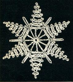Obraz znaleziony dla: free crochet snowflakes patterns
