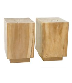 The Buffalo Collection.  Wood Cube Side tables #wood #cherry #table