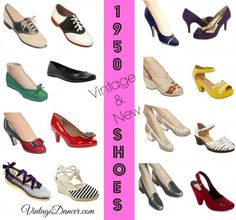 1950s Fashion for Women: Vintage and New 1950s Style Shoes!  #1950sfashion