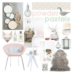 """""""Powder Pastels"""" by ladomna ❤ liked on Polyvore"""