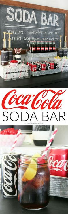 Make any party or gathering a hit with a make it yourself Coca-Cola Soda Bar!
