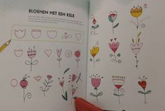 Uit het boek 'Doodles en letters' van Marieke Blokland.