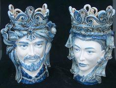 "Sicilian Ceramic Heads ""Teste di Moro"" Ceramic Caltagirone www.ceramicheripullo.com"