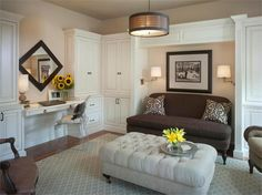 Light Transitional Living & Family Room by Donna Hoffman on HomePortfolio. I would love to make my new home office look just like this room.
