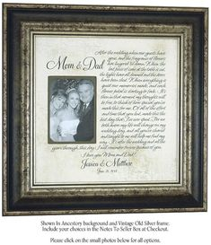 Parents Wedding Gift Mr Mrs Sign MOTHER of the Bride Groom engagement wedding bridal shower anniversary by PhotoFrameOriginals Wedding Gifts For Parents, Wedding Day Gifts, Bride Gifts, Wedding Thank You, Wedding Stuff, Dream Wedding, Wedding Picture Frames, Wedding Frames, Wedding Pictures