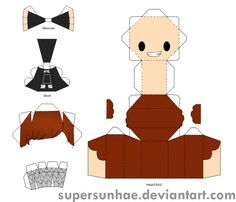chanyeol papercraft template by supersunhae