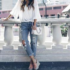 All about those boyfriend jeans. #cantgetenough #MyShopStyle : @stylinbyaylin