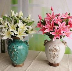 GNW FL-LY52-3-12CM 2016 hot selling Silk Artificial Lily Flowers for home decoration