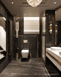Luxury Private residence in Palestine Washroom Design, Toilet Design, Bathroom Design Luxury, Bathroom Layout, Modern Bathroom Design, Luxury Interior Design, Modern House Design, Bathroom Design Inspiration, Luxury Homes Dream Houses
