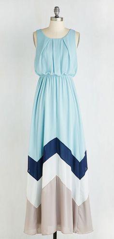 Romantic Resplendence Dress in Sky