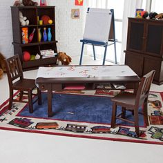Have to have it. Classic Playtime Espresso Deluxe Activity Table with Free Paper Roll. - $219.99 @hayneedle