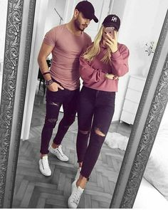 Best Matching Outfits - ideas and images! Best Matching Outfits - ideas and images! Best Matching Outfits – ideas and images! on Stylevore Matching Couple Outfits, Twin Outfits, Matching Couples, Outfits For Teens, Cute Couples, Casual Outfits, Fashion Outfits, Emo Fashion, Rock Outfits