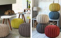 Crochet Mat, Crochet Home, Rustic Furniture, Diy Furniture, Sitting Cushion, Diy House Projects, Bean Bag Chair, Pillows, Room
