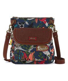 9fc27d93e7f9 Sakroots Blue River Peace Flap-Pocket Crossbody Bag