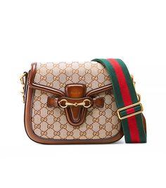 Gucci Lady Web Original Canvas Shoulder Bag